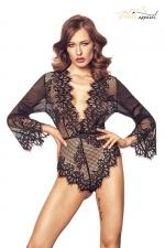 Body Celestia dentelle noir - Anaïs : Magnifique body en dentelle douce et raffinée, une lingerie luxe exclusive.