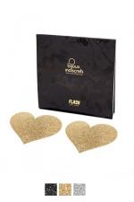 Bijoux de seins Flash Coeur : Avec ces décorations permettant de cacher les mamelons, osez laisser le soutien-gorge au placard !