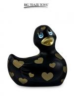 Mini canard vibrant Romance jaune et or : Déclinaison noire et or du célèbre canard vibrant dans la collection Romance.  I Rub My Duckie est désormais en version 2.0.