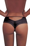 Tanga noir dentelle - Paris Hollywood