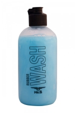 Nettoyant latex Rubber Wash 250 ml : Mister B Rubber Wash est un nettoyant concentré dédié aux vêtements et sextoys en latex.