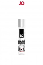 Lubrifiant premium silicone effet chaud 30 ml : Le lubrifiant intime Jo Premium est fabriqué à base de silicone, il est doux et soyeux et, résiste à l'eau. Effet chauffant, 30ml.