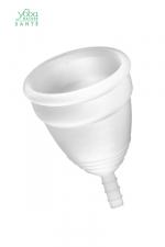 Coupe menstruelle Blanche Yoba Nature : Coupe menstruelle 100% silicone Premium, disponible en 2 tailles, par Yoba Nature.