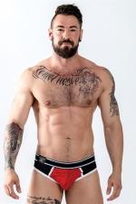 Jock Brief URBAN SoMa  Rouge - Mister B : Un sous vêtement top confort pour homme mi-slip et mi-jockstrap pour mettre votre corps en valeur, par Mister B.