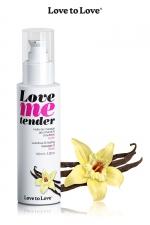 Huile de massage vanille 100ml : Huile de massage comestible goût vanille fabriquée en France par Love to Love.
