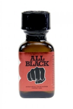 Poppers All Black 24 ml : le poppers exclusif du fabricant de godes géants All Black,  basé sur la molécule historique à l'Isopropyle