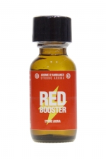 Poppers Red Booster 25ml : Un puissant arôme d'ambiance aphrodisiaque à base d'amyle, pour profiter à fond des plaisirs du sexe et des moments de fête.