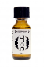 Poppers Jolt White Coco 25ml : Puissant arôme d'ambiance aphrodisiaque à l'odeur coco. Poppers made in France by Jolt, Nitrite de Propyle, flacon de 25 ml.
