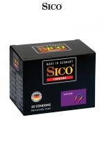 50 préservatifs Sico COLOUR : Préservatifs colorés et aromatisés (banane, fraise, menthe, tutti frutti) pour des jeux amoureux encore plus fun.