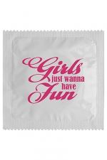 Préservatif humour - Girls Wanna Have Fun : Préservatif Girls Wanna Have Fun, un préservatif personnalisé humoristique de qualité, fabriqué en France, marque Callvin.