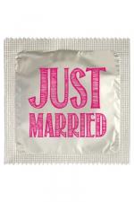 Préservatif humour - Just Married : Préservatif Just Married, un préservatif personnalisé humoristique de qualité, fabriqué en France, marque Callvin.