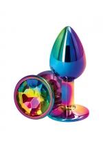 Plug anal aluminium Multicolore S - Rear Assets